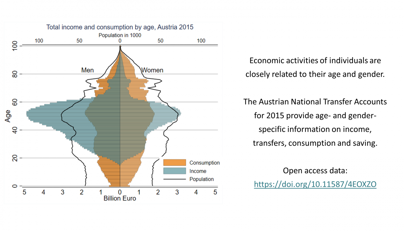 Austrian NTA provide a wide range of age- and gender-specific economic data.